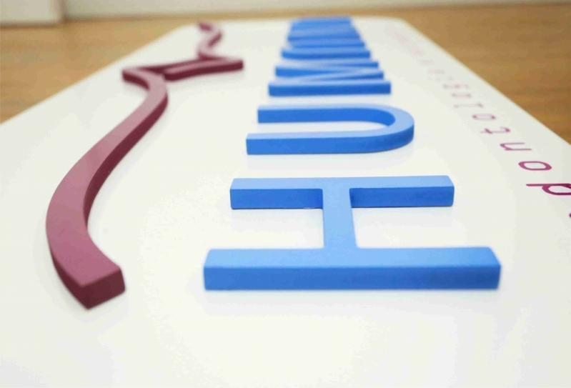 Letras Caixa para Recepção São Carlos - Letra Caixa em Aço Galvanizado