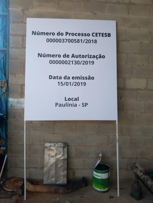 Placa de Sinalização de Obra Mongaguá - Placa de Sinalização de Trânsito
