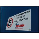 placa de sinalização de estacionamento preços Osasco