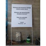 placa de sinalização de obra Francisco Morato