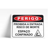 placa de sinalização de rua valor Santo André