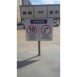 placa de sinalização de trânsito Piracicaba