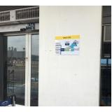 placa de sinalização embarque e desembarque preços Araras