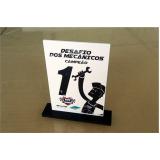 preço do troféu personalizado empresa Araçatuba