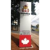 sinalização com placa galvanizada valor Itaquaquecetuba
