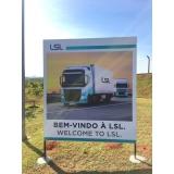 sinalização com placa galvanizada Riviera de São Lourenço
