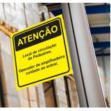 sinalização rodoviária placa de trânsito preços Caieiras